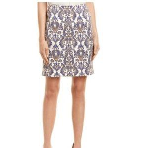 J.McLaughlin Damask Pencil Skirt